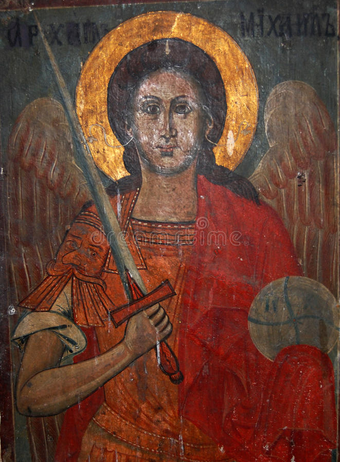 Arcangelo Michael immagine stock