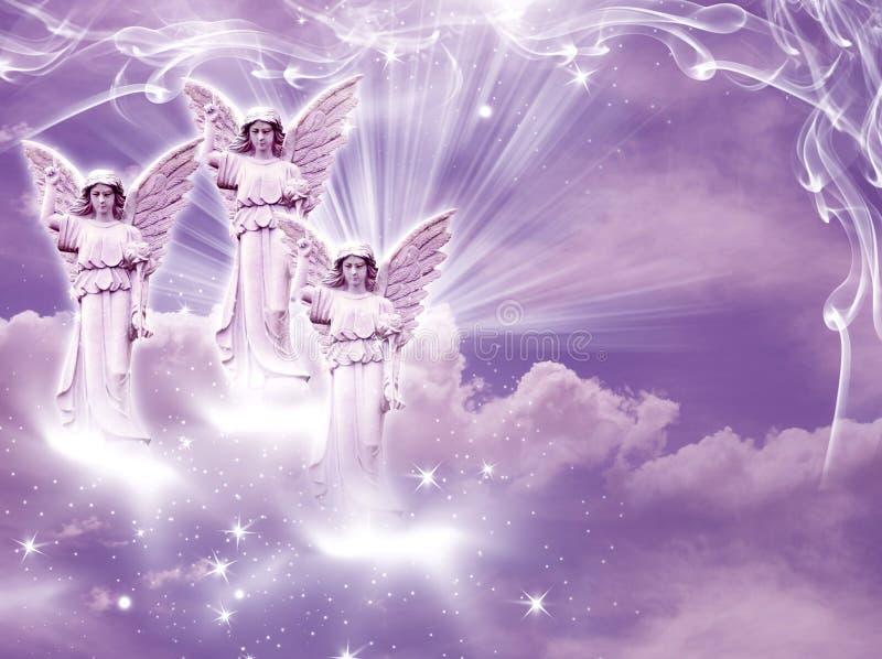 Arcanjos dos anjos ilustração stock