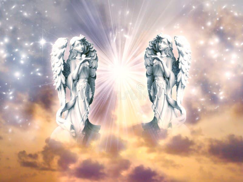 Arcanjos dos anjos ilustração do vetor