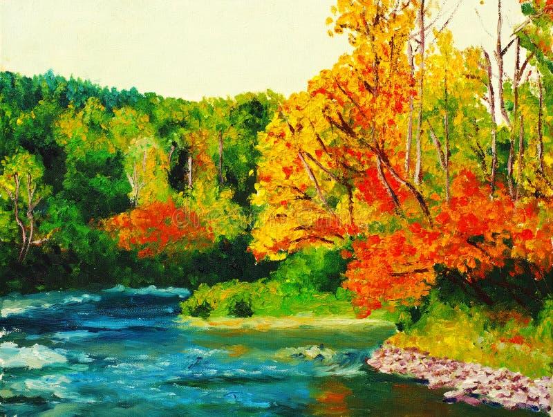 Arce en otoño stock de ilustración