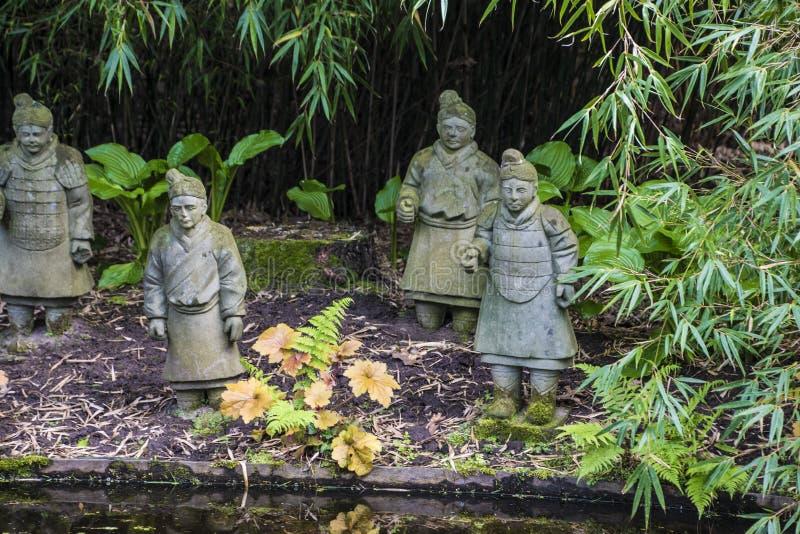 Arcen, Pays-Bas dedans le 20 mai 2019 : Guerriers chinois antiques d'armée de terre cuite images libres de droits