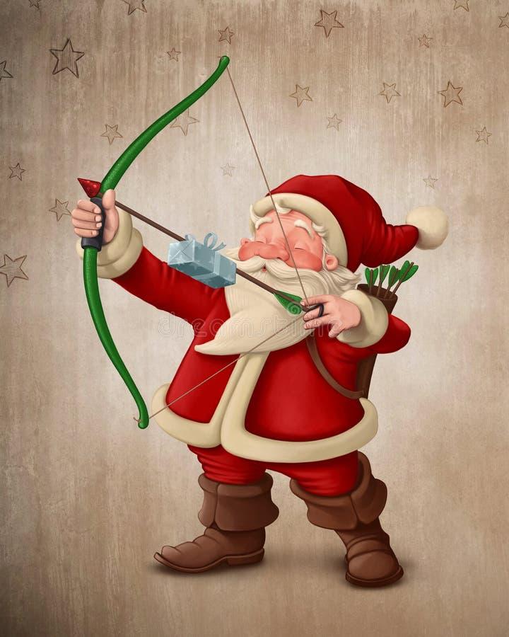 Arcere di Santa Claus illustrazione vettoriale