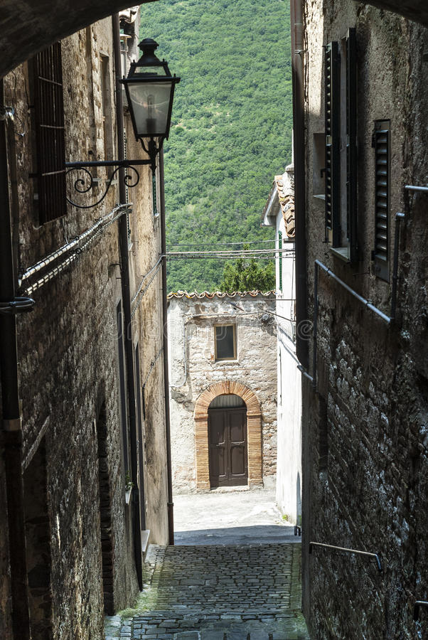 Download Arcevia (Marches, Italy) stock image. Image of building - 28684843