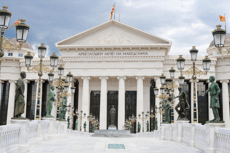Archäologiemuseum Skopje - Mazedonien stockfotografie