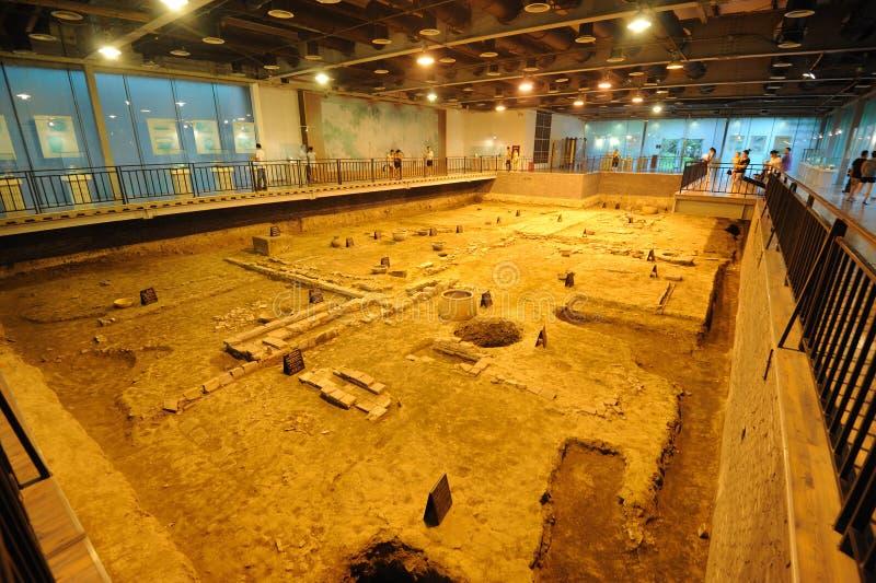 Archäologiesite der Zapfen-Dynastie in Chengdu stockfotografie