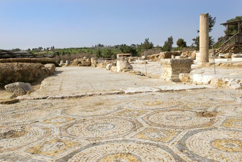 Archäologische Aushöhlungen, Nationalpark Zippori, Galiläa, Israel lizenzfreie stockfotografie