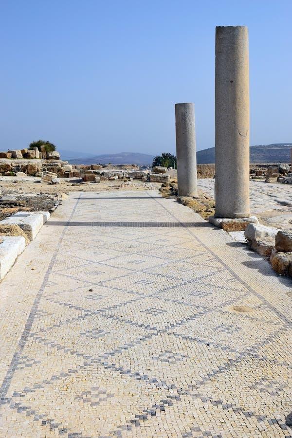 Archäologische Aushöhlungen, Nationalpark Zippori, Galiläa, Israel stockbilder