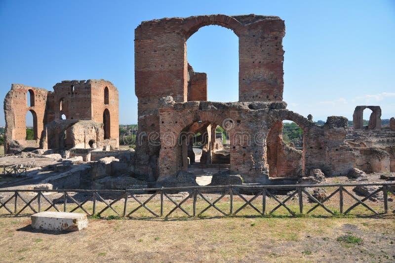 Archäologische Fundstätte Rom, Landhaus dei Quintili, Appia Antica lizenzfreie stockfotos