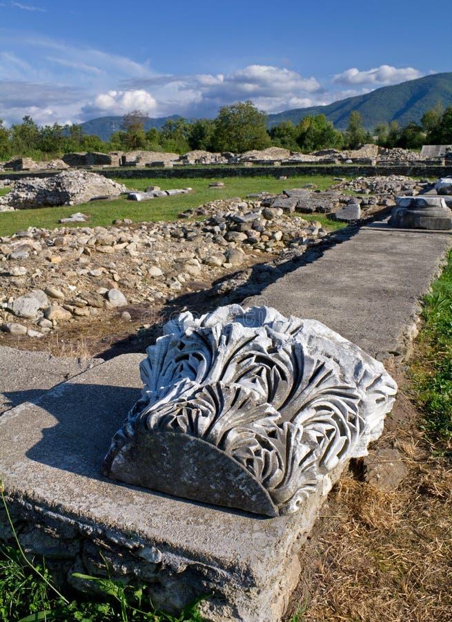 Archäologische Site-Sarmizegetusa Ulpia Traiana lizenzfreie stockfotografie