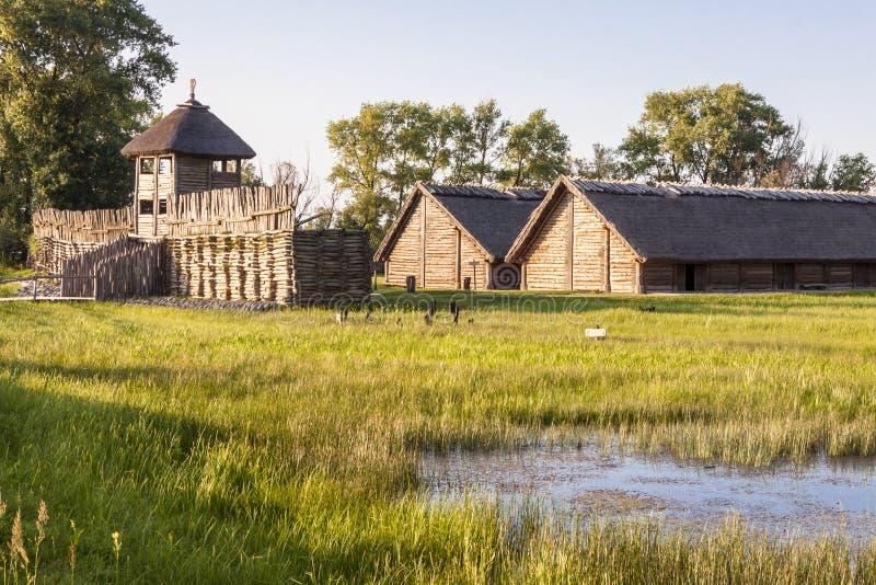 Archäologisches Museum Biskupin - Polen. lizenzfreies stockfoto