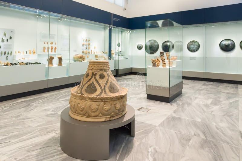 Archäologisches Museum Iraklios bei Kreta, Griechenland stockbilder