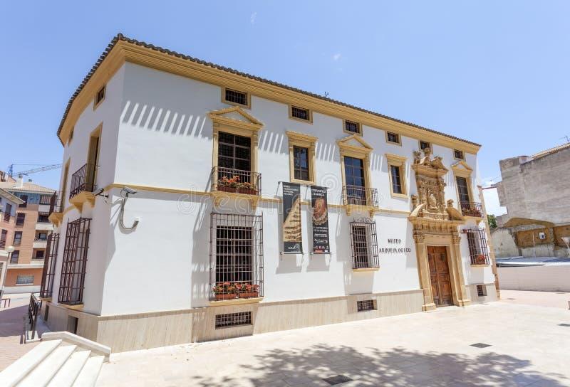 Archäologisches Museum in Lorca, Spanien stockbilder