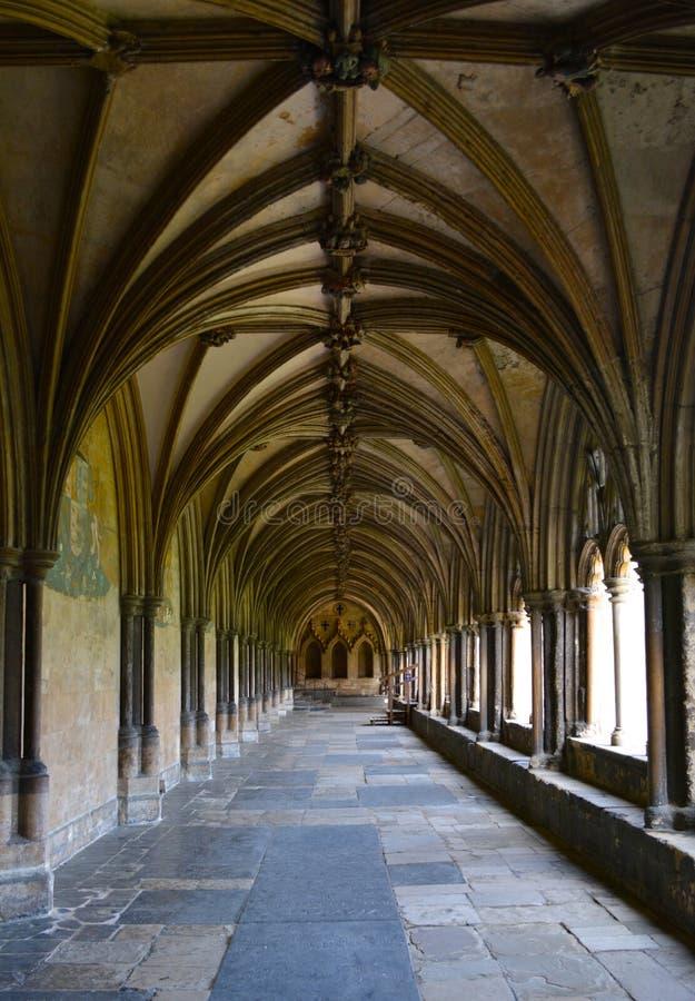 Arché della cattedrale di Norwich fotografia stock