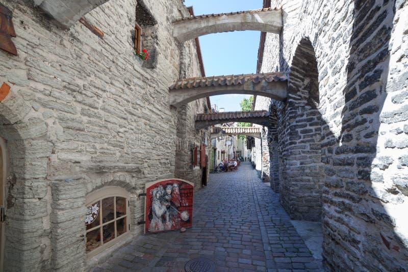 Arché di pietra nel vicolo di Catarina fotografia stock