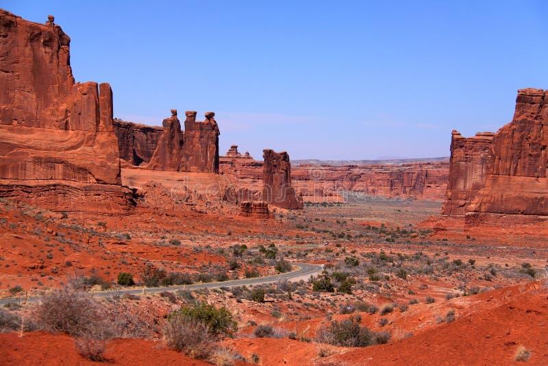 Arché parco nazionale, Utah fotografia stock