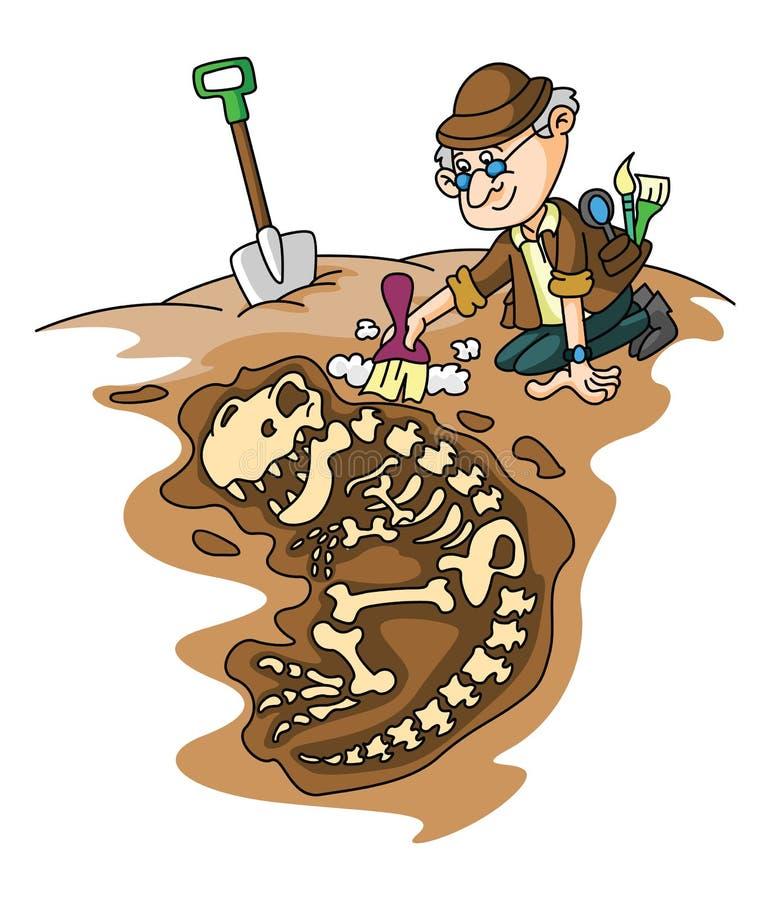 archéologie illustration de vecteur