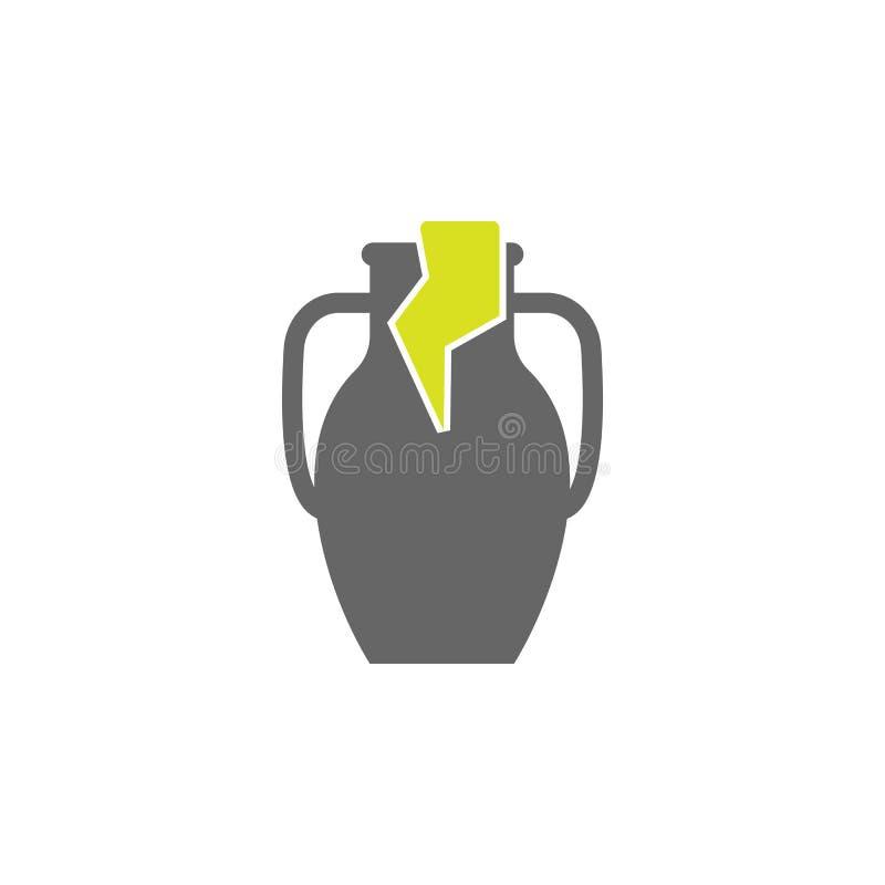 Archéologie, icône d'icône de pot Élément d'icône d'expérience de la Science pour des applis mobiles de concept et de Web Archéol illustration libre de droits