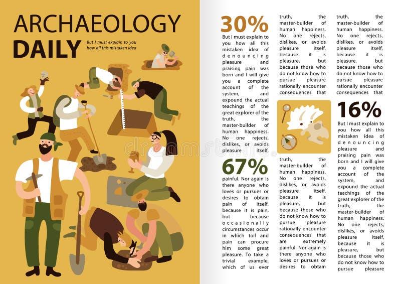 Archéologie Infographics illustration libre de droits
