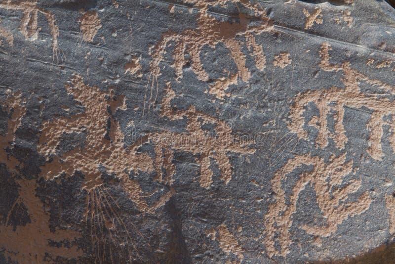 Archéologique et graffiti sur des pierres photographie stock libre de droits