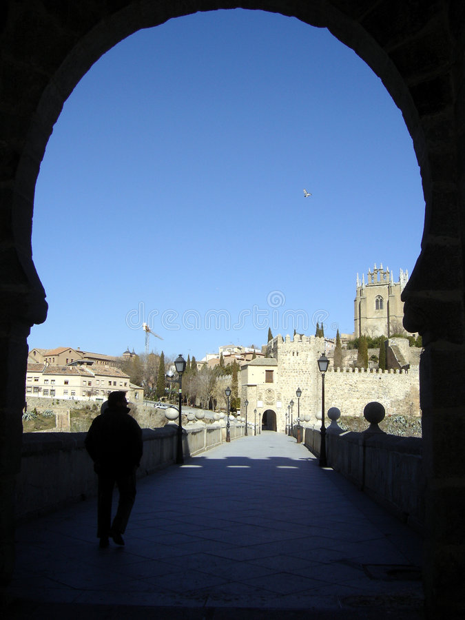 Download Arch 01 stock image. Image of passage, siloutte, blue, spain - 136707