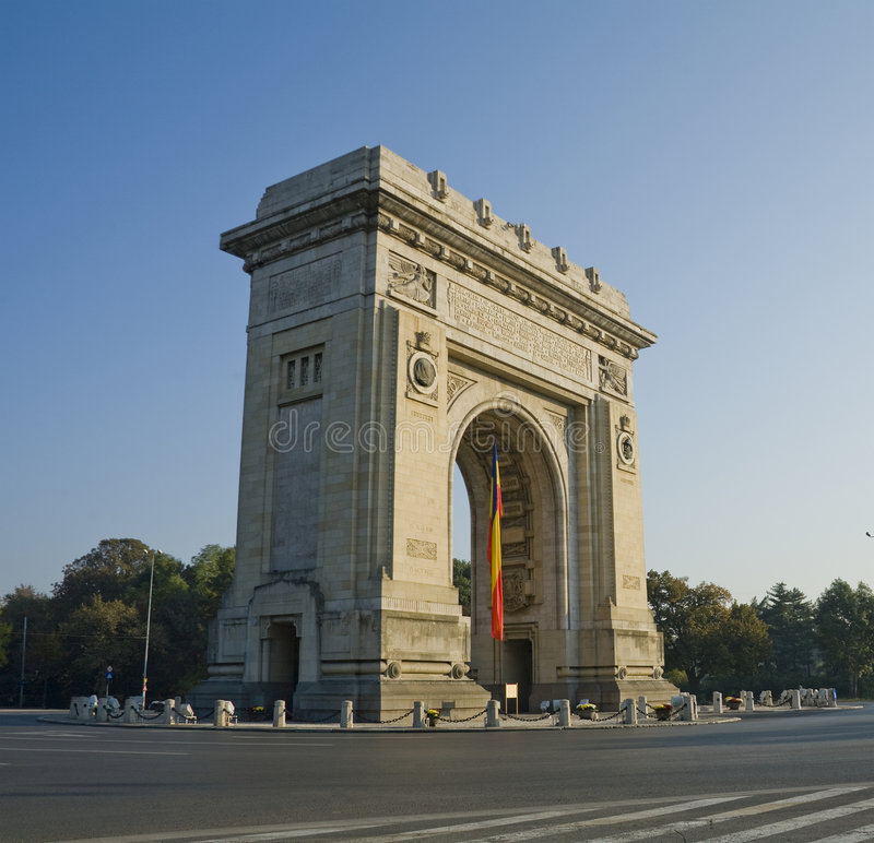 Download Arch stock photo. Image of romania, landmark, military - 6798376