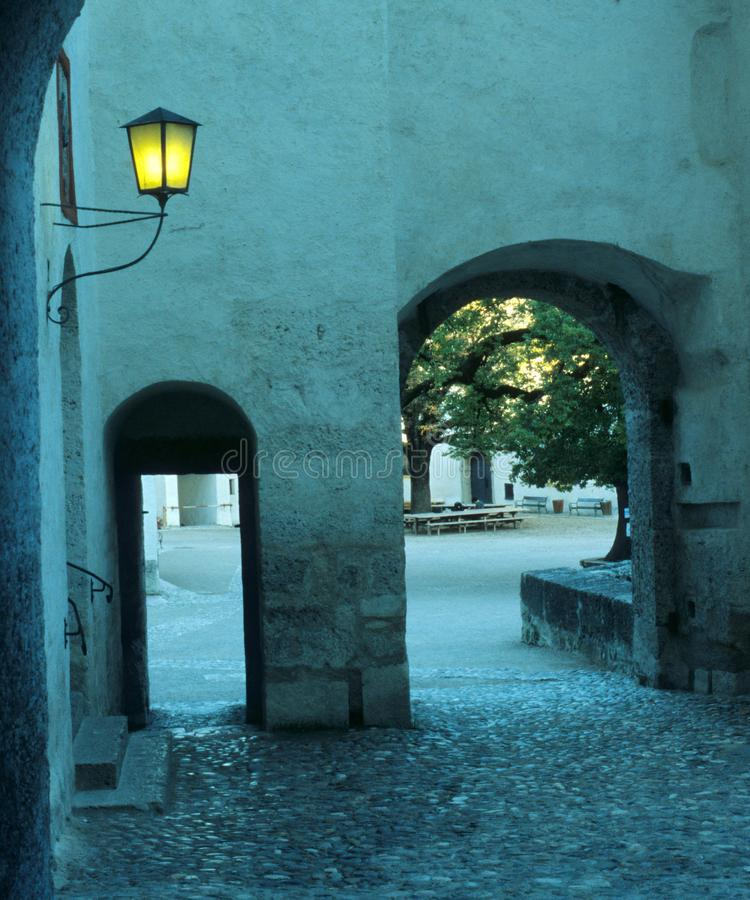 Arch in ancient castle royalty free stock images