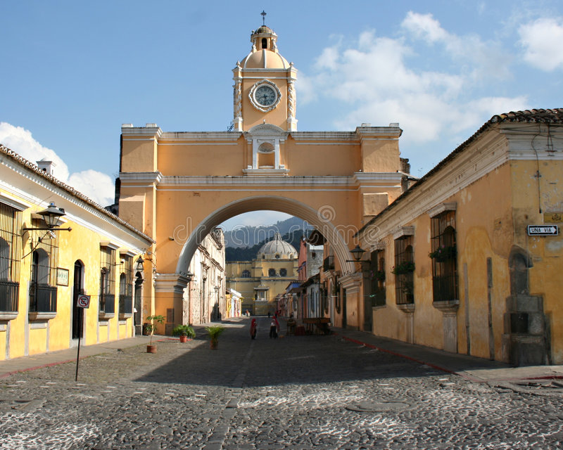 Arch of Antigua stock image