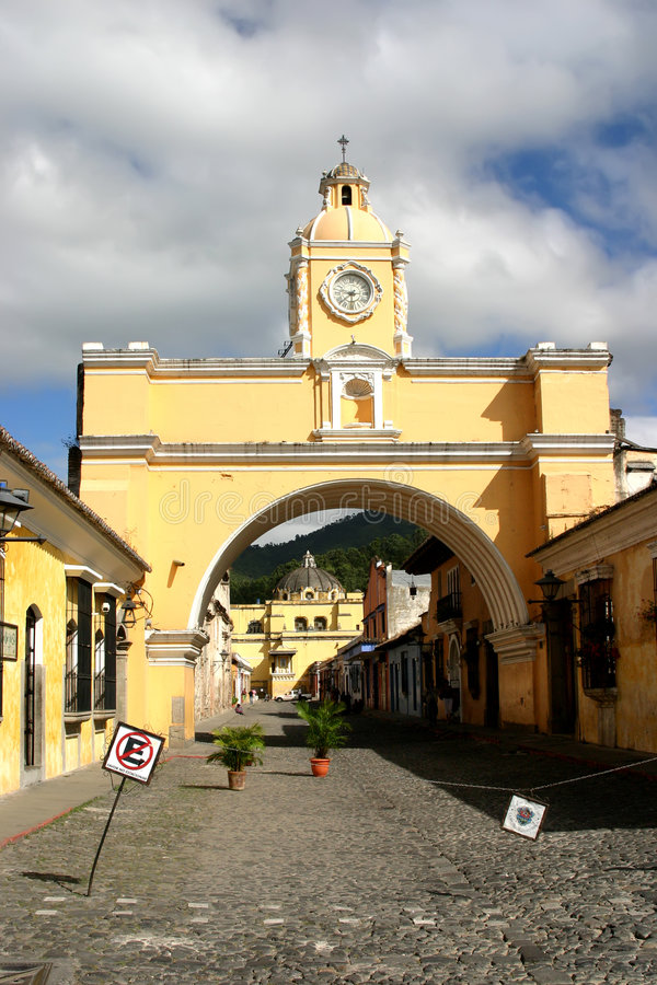 Download Arch in Antigua city stock photo. Image of heritage, hills - 5019778