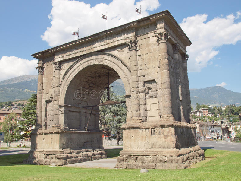 Download Arch of August Aosta stock image. Image of arco, valle - 25904773