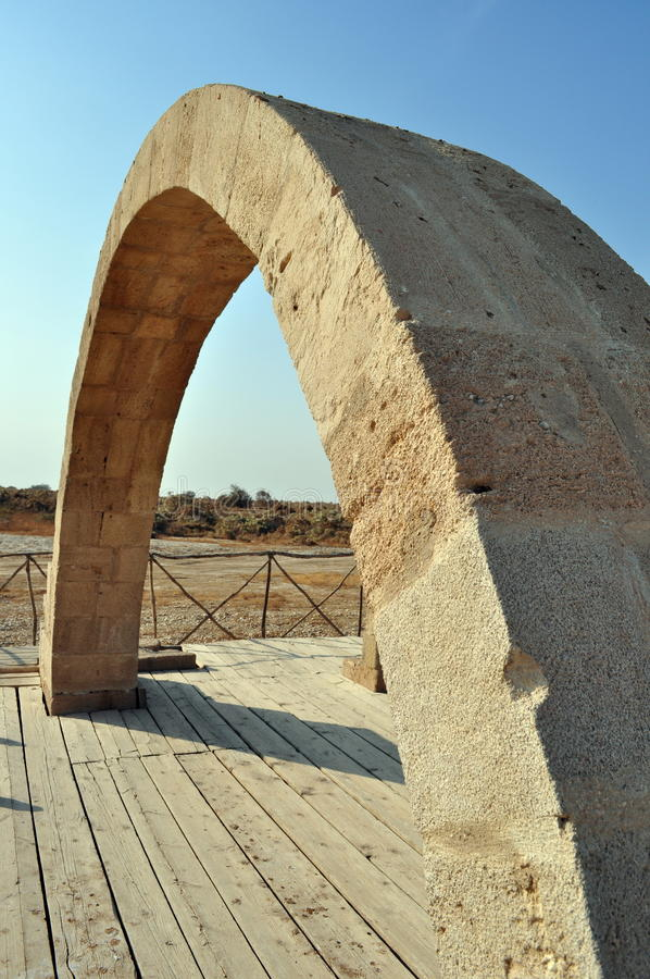 Arch in baptism site royalty free stock photo