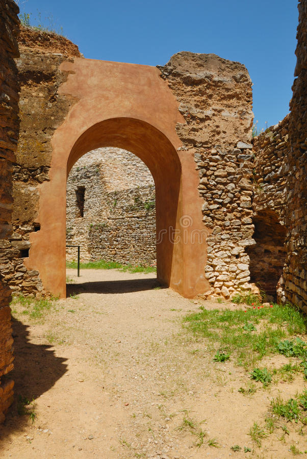 Arch castle Constantina stock photos