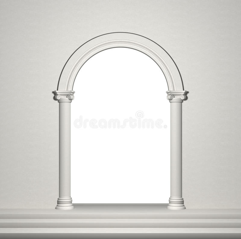 Arch with columns royalty free illustration