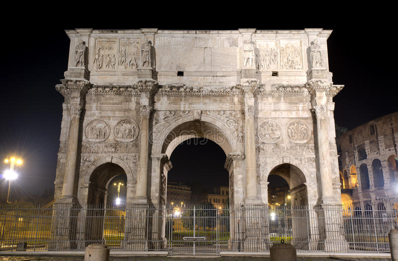 Download The Arch of Constantine stock photo. Image of italy, memorial - 28239398