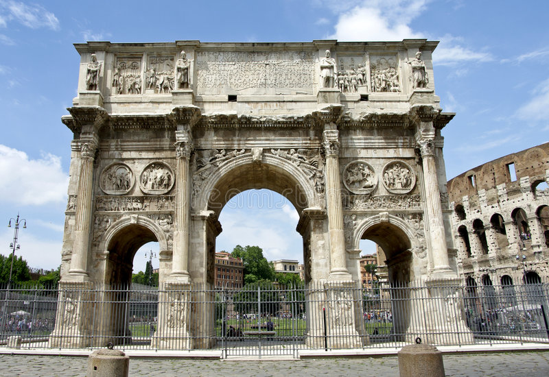 Download The Arch of Constantine stock photo. Image of brick, history - 9288968