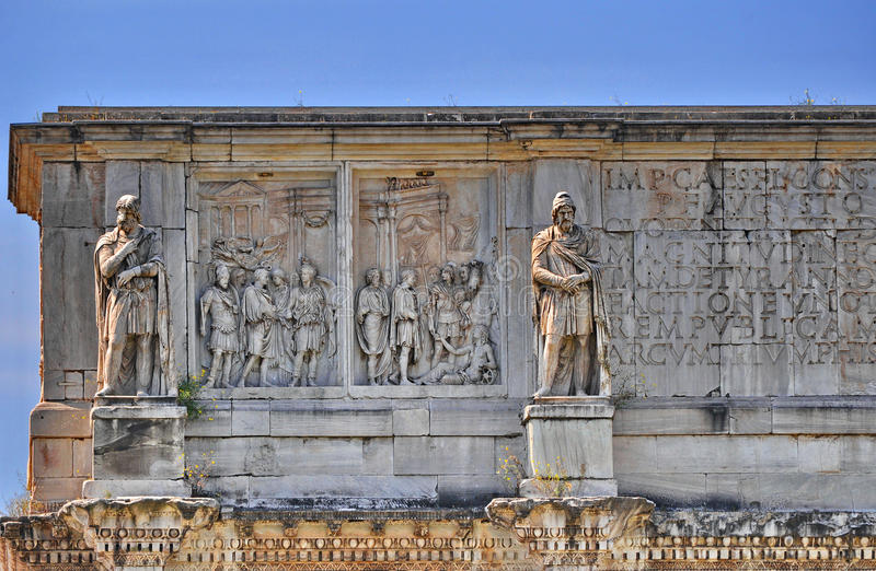 Download Arch of Constantine detail stock photo. Image of dusk - 53480714
