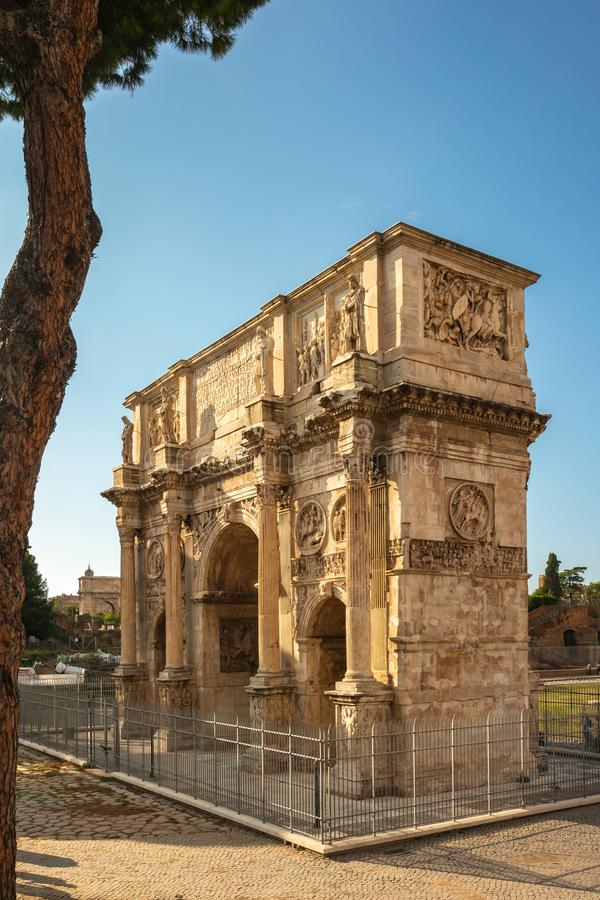 Arch of Constantine near the Colosseum, Rome, Italy royalty free stock image