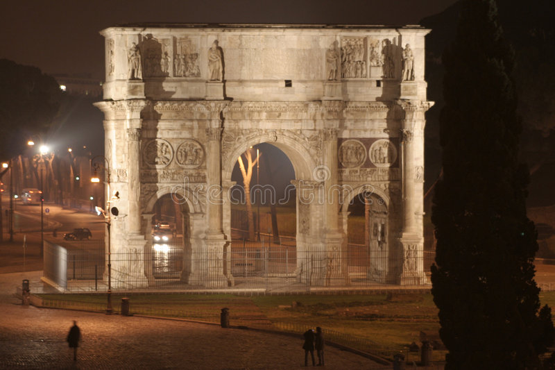Arch of Constantine Night (Rome - Italy - Europe)