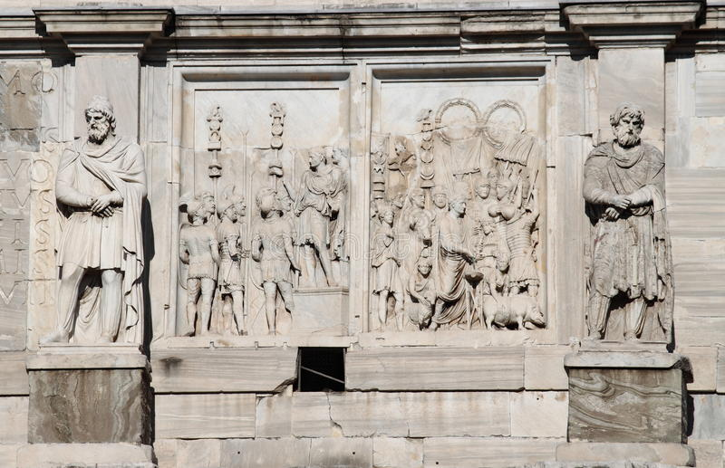 Arch of Constantine in Rome royalty free stock photos