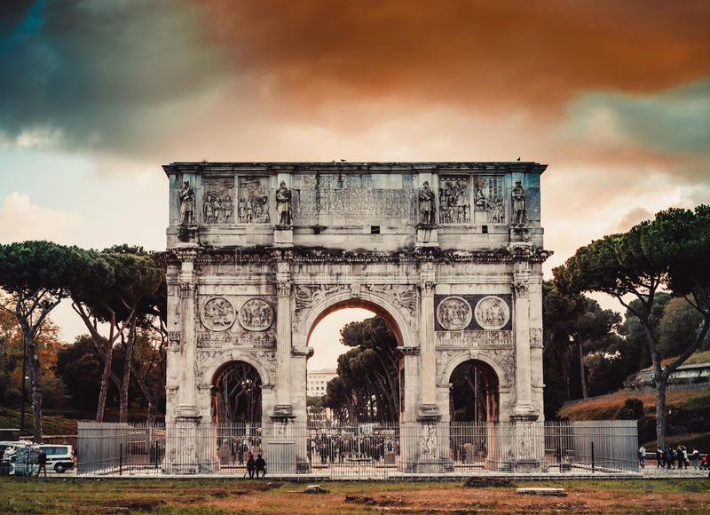 Arch of Constantine in Rome royalty free stock image