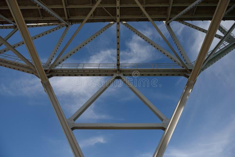 Harbor Bridge support in Corpus Christi stock images