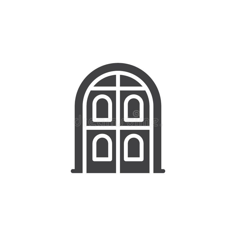 Arch door vector icon vector illustration