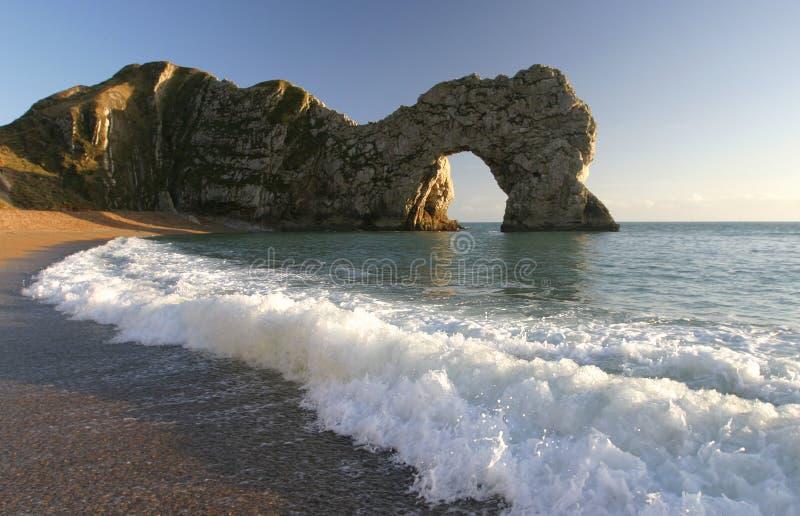 arch Dorset drzwi durdle morza zdjęcie royalty free