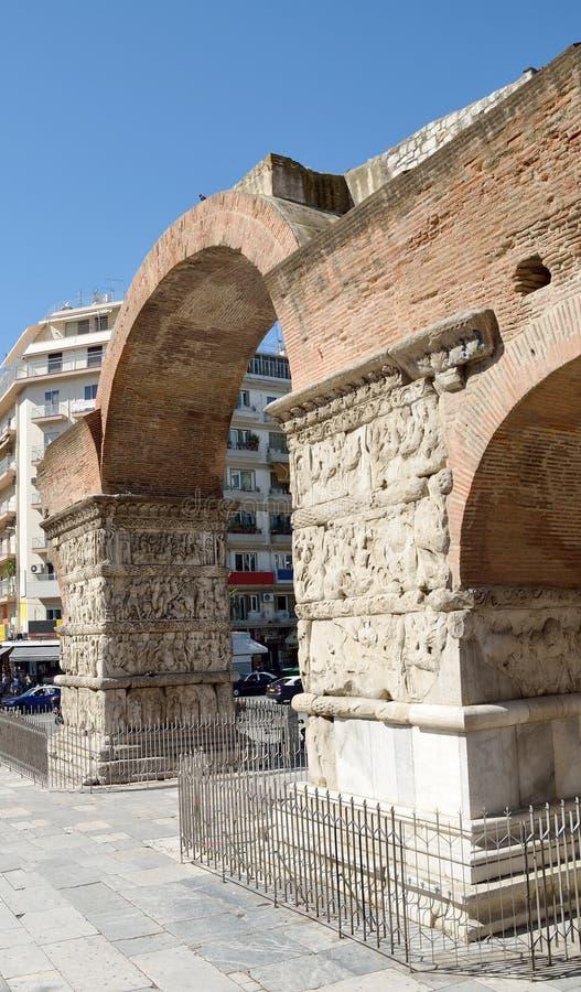 Arch of Galerius. Kamara- in Thessaloniki, Greece royalty free stock photo