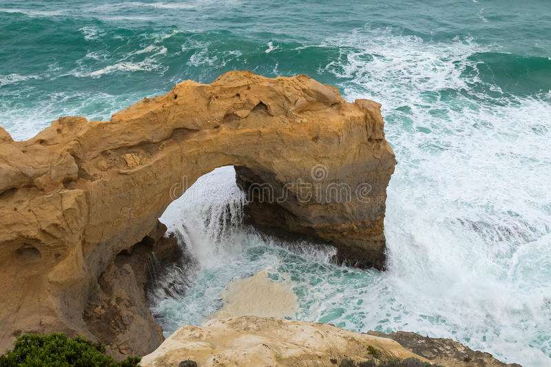 The Arch, Great Southern Ocean at Port Campbell National Park in stock photos