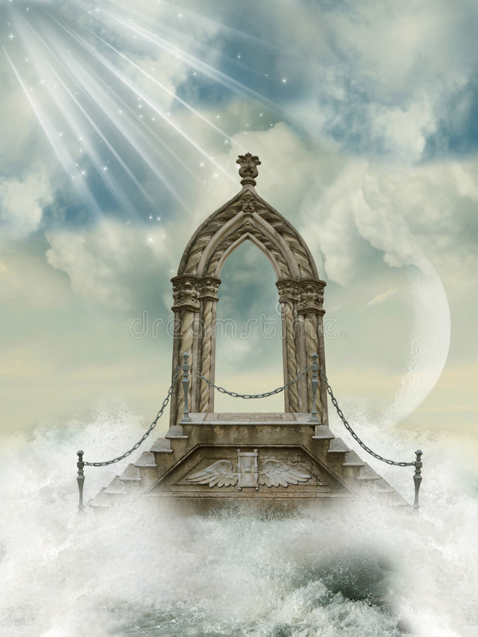 Download Arch in the heaven stock image. Image of misty, castle - 8995753