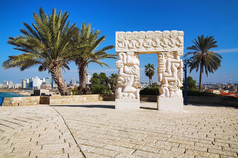 Arch in Jaffa, Israel. Arch in Jaffa near Tel Aviv, Israel royalty free stock photography