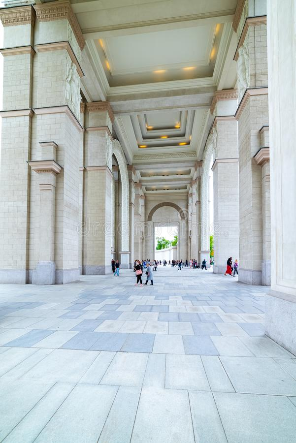 .Arch of the Main entrance of VDNKH — the main entrance to the Exhibition of achievements of the national economy royalty free stock photos