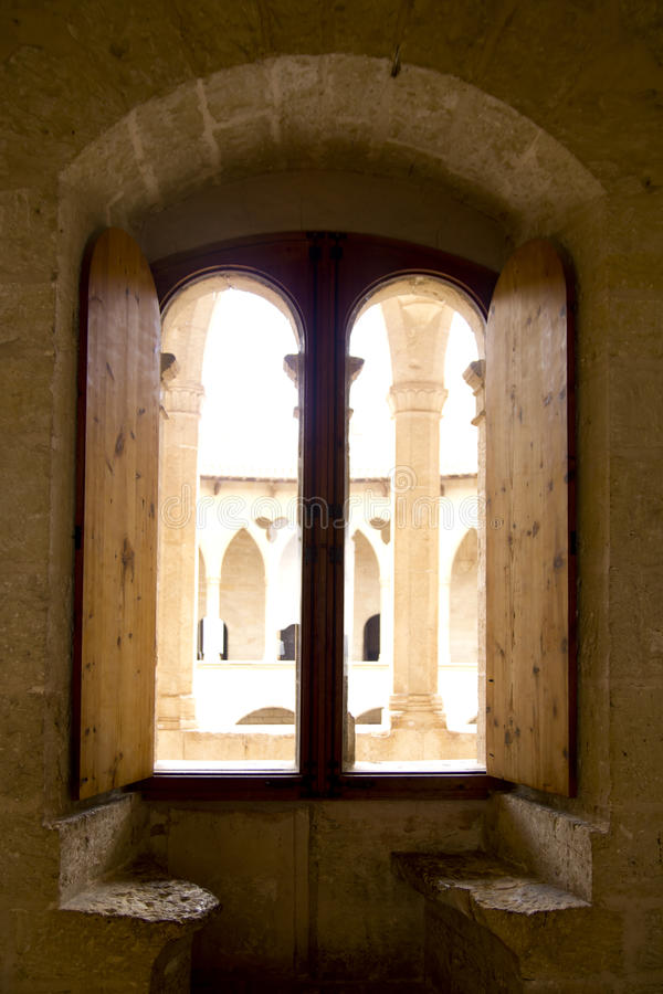 Download Arch In Majorca Bellver Castle Stock Image - Image: 20321913