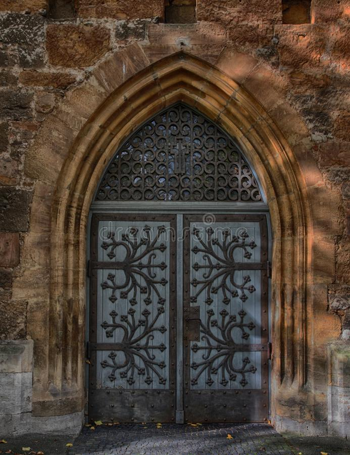 Arch, Medieval Architecture, Wall, Iron stock image