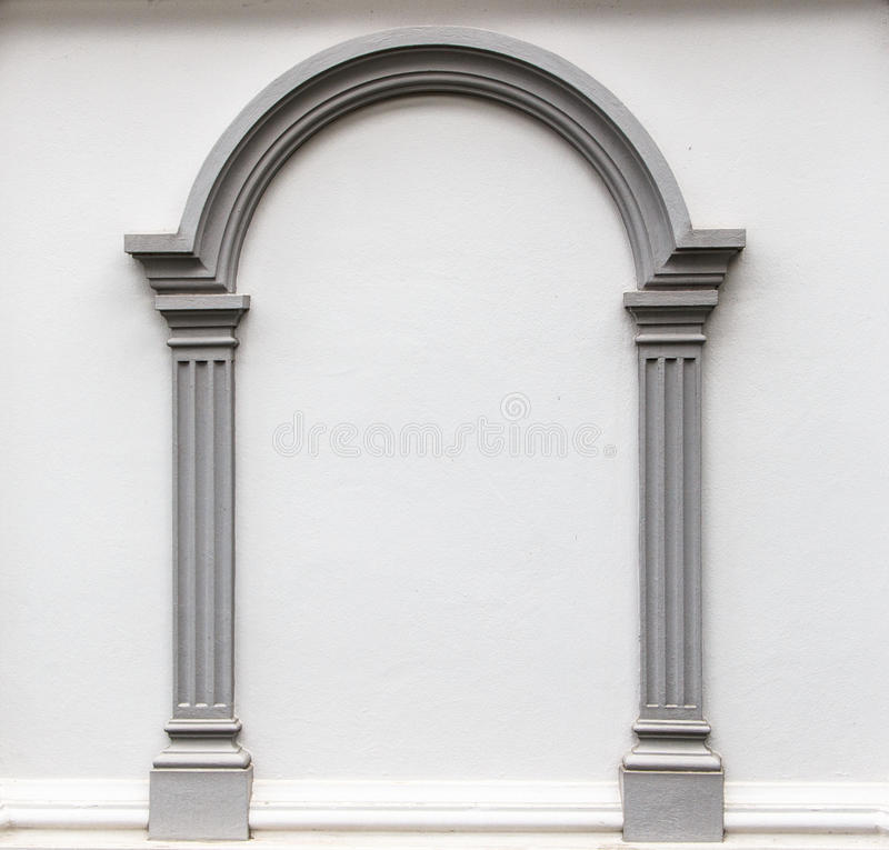 Arches Design Wall: Arch Molding On The Wall Stock Photo
